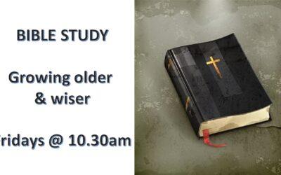 Bible Study each Friday @ 10.30am