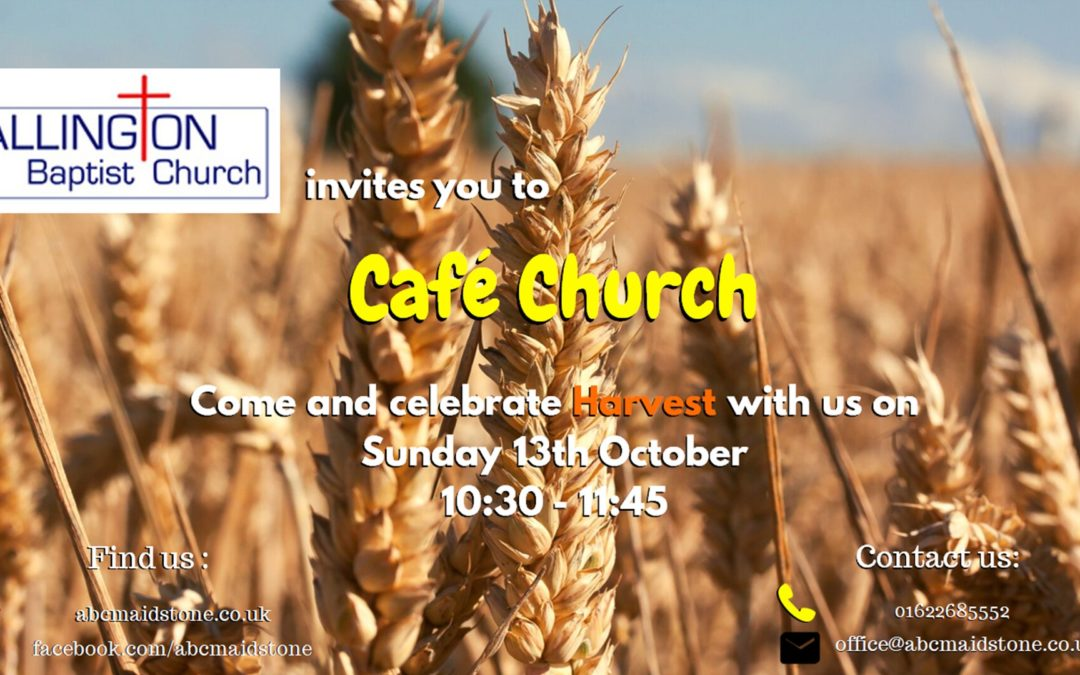 Cafe Church service 12th October