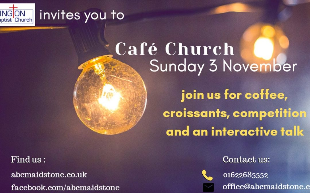 Cafe Church Service 3rd November