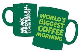 Macmillan Coffee Morning – Saturday 25th September, 10.30 – 12.00noon