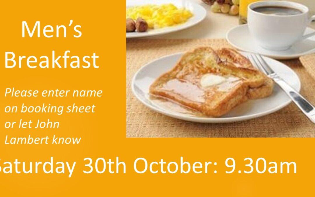 Men's Breakfast – 30th October 2021