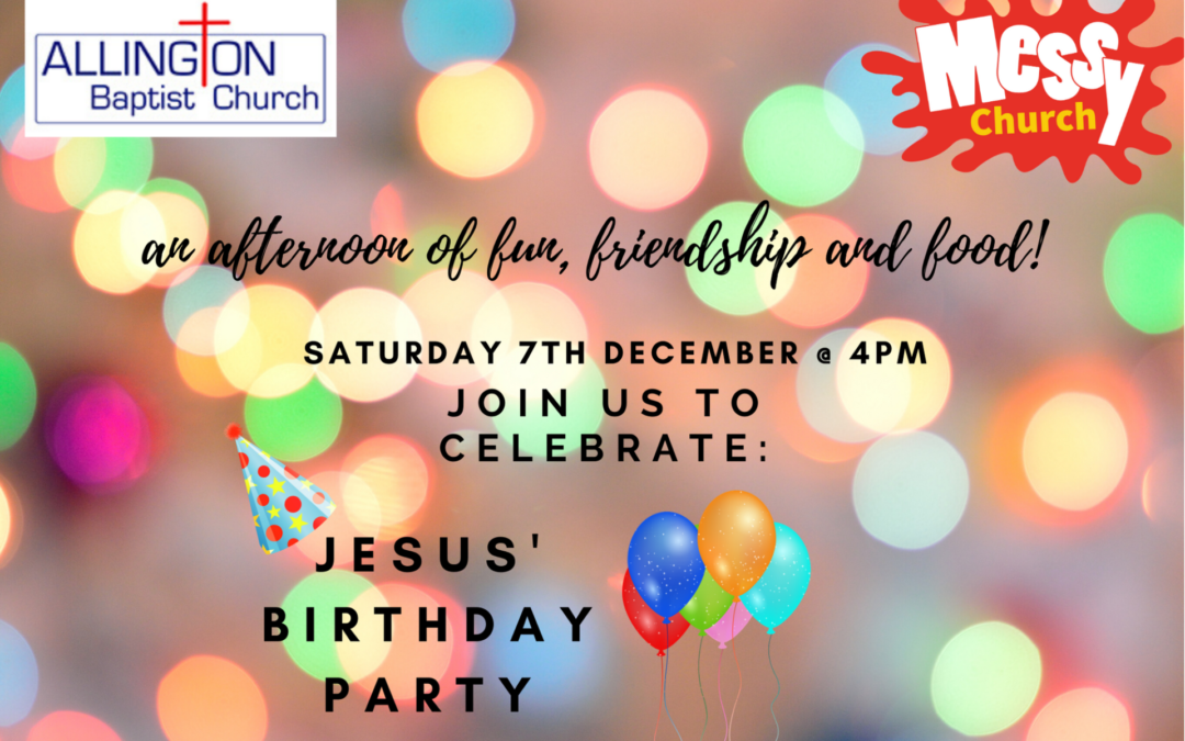 Messy Church – Saturday 7th December 4-6pm