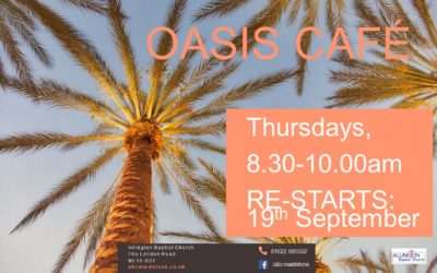 Oasis Cafe moves to 8.30am – 10am Thursdays