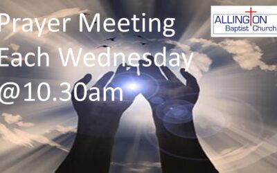 Prayer Meetings every Wednesday @ 10.30am