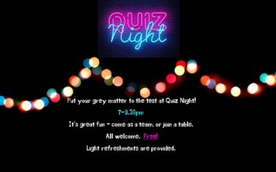 Quiz night – Saturday 22nd February