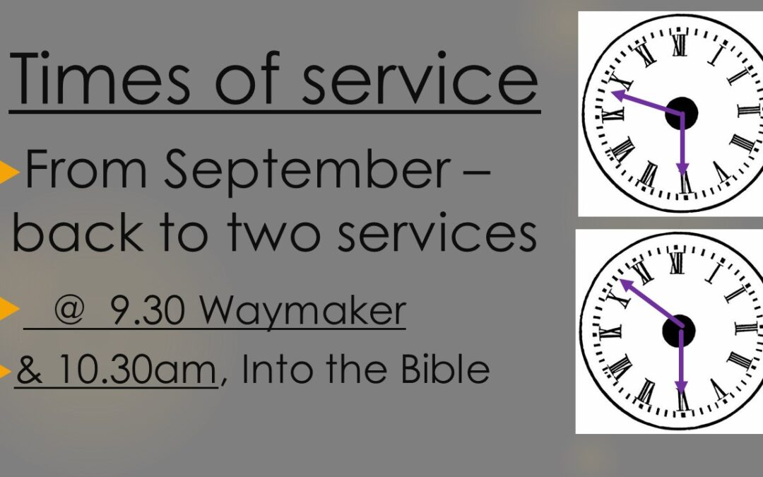 Service Times for September
