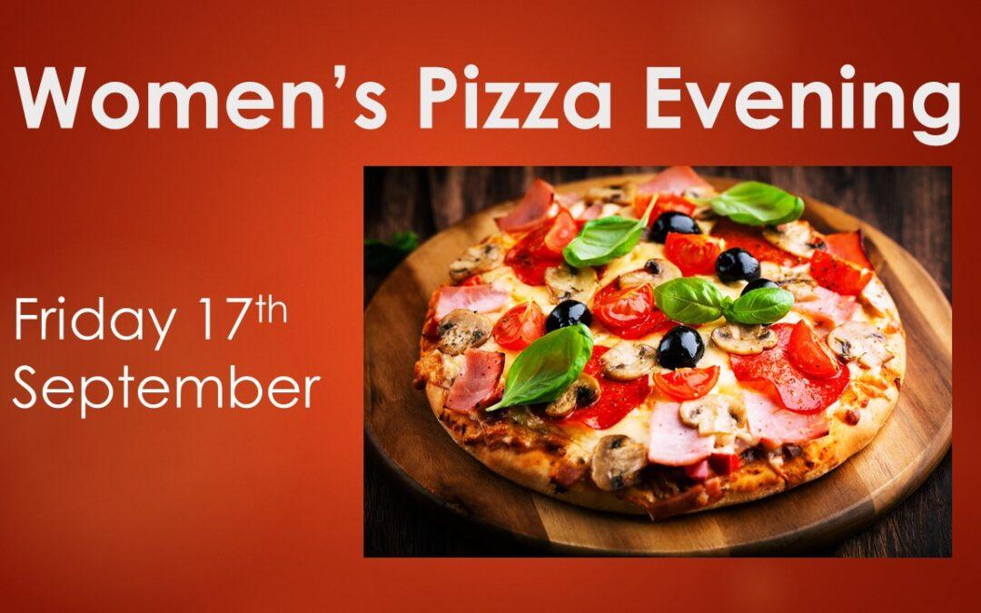 Women's Pizza Evening – Friday 17th September