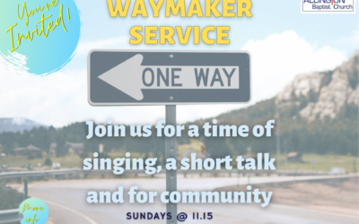 Waymaker Services – 11.15am (from 20th September)